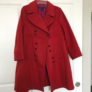 Double Breasted, 3/4 Sleeve wool coat